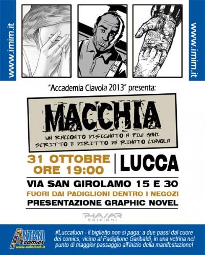 Macchia, graphic novel, Renato Ciavola, IMIM, Accademia Ciavola, Lucca Comics & Games